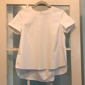 Theory white hi/low blouse, size small